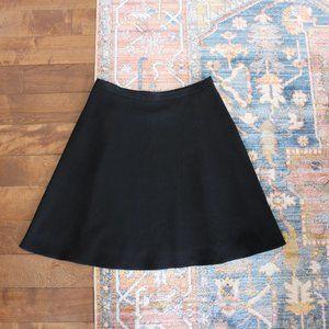 Judith & Charles Black Crepe A-Line Skirt